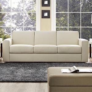 Amazon.com: Rananto Off-White Leather Sleeper Sofa: Kitchen & Dining