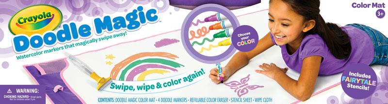 crayola mat fairytale doodle magic color marker