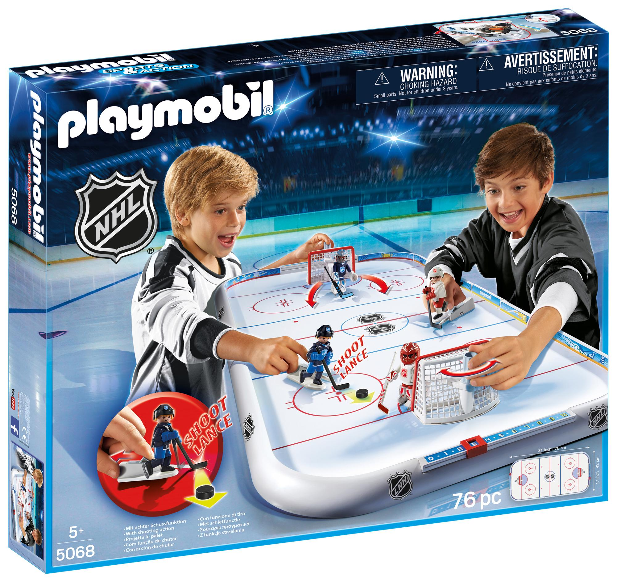 Amazon.com: PLAYMOBIL® NHL Hockey Arena: Toys & Games