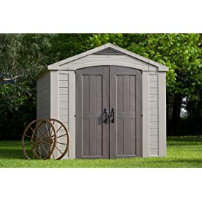 Keter Factor outdoor patio back yard storage sheds
