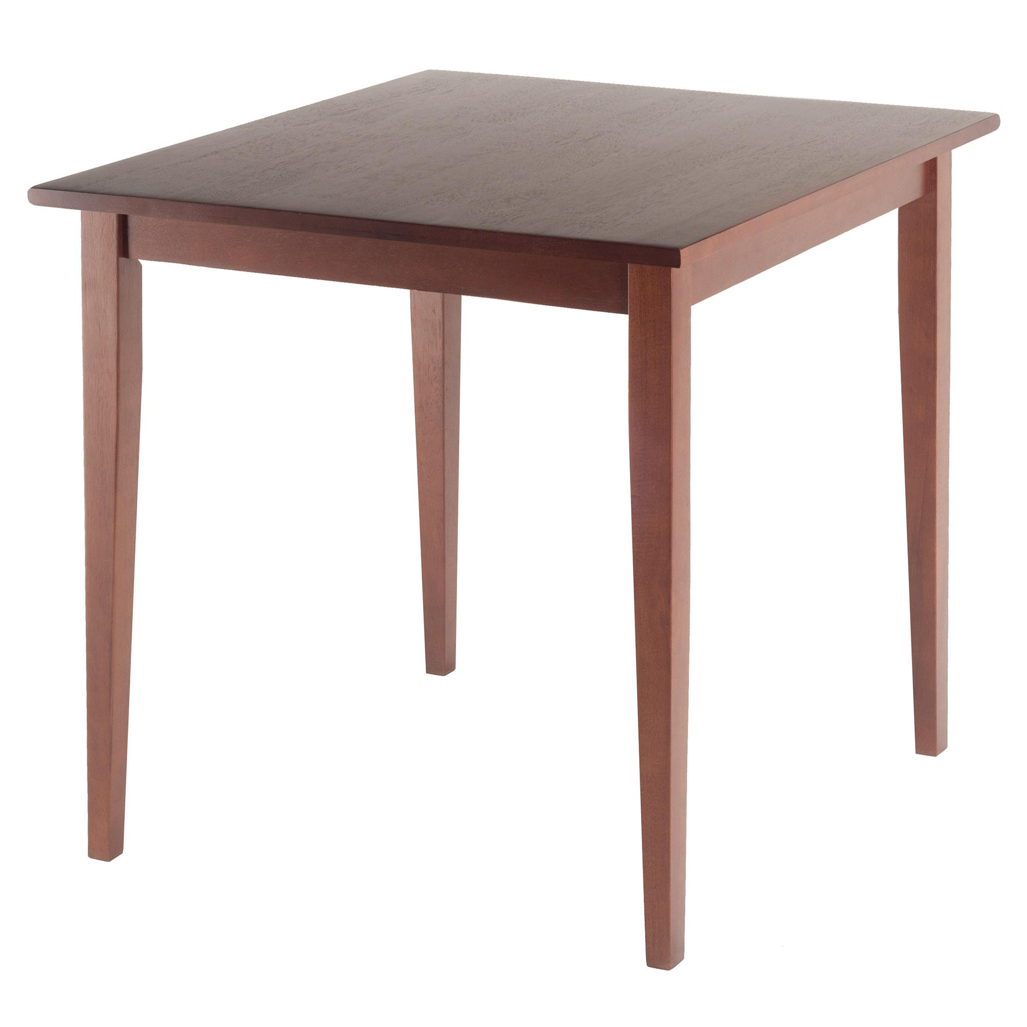 wood groveland square dining table in antique walnut finish tables