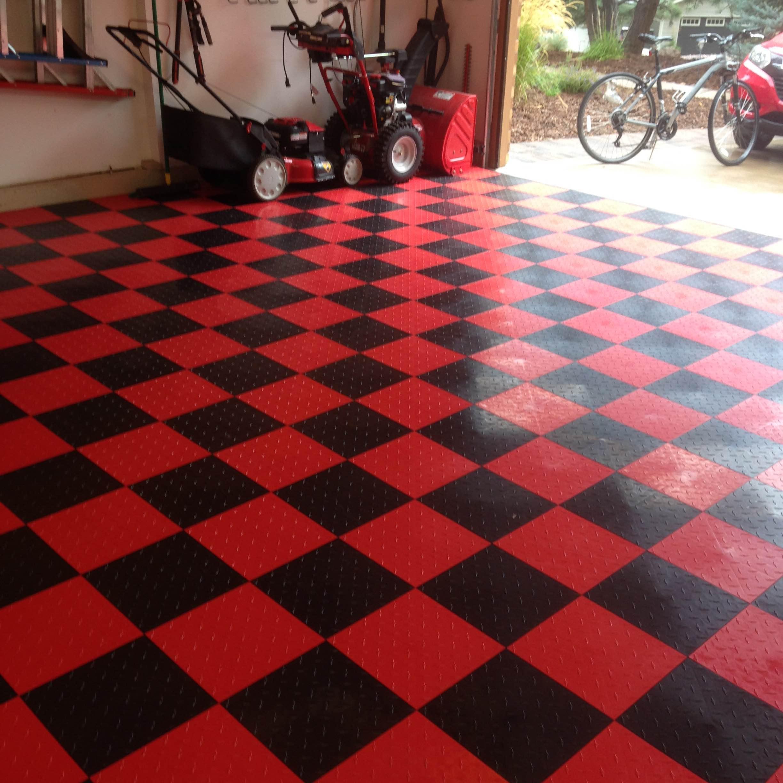 Speedway Garage Tile Interlocking Garage Flooring LOCK Diamond - Click together tile ceramic floor tiles