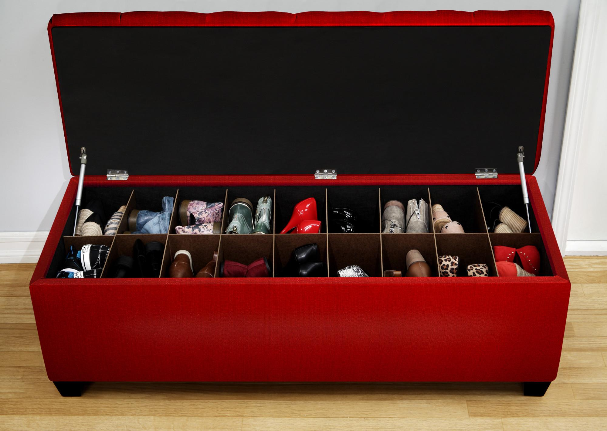 Hidden Shoe Storage Bench | www.galleryhip.com - The Hippest Pics