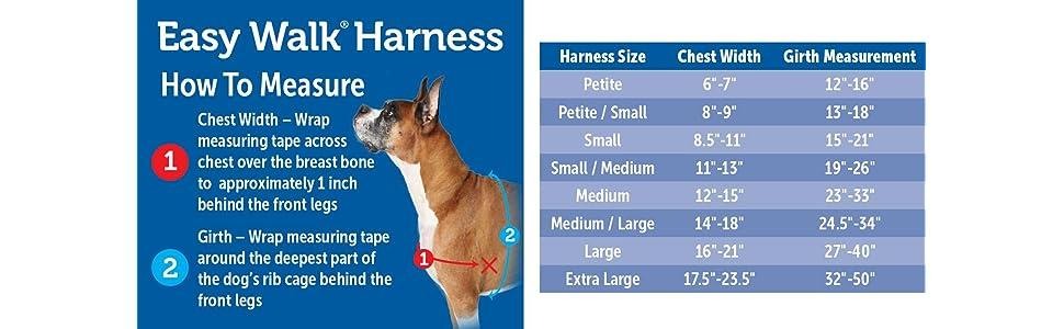 Amazon.com : PetSafe Easy Walk Harness, Medium/Large, BLACK/SILVER ...