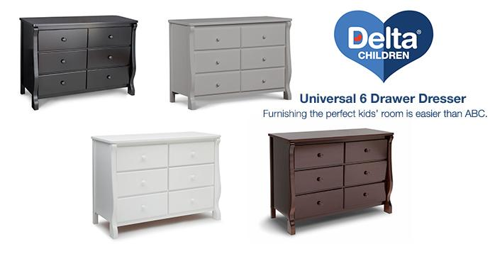 Amazon Com Delta Children Universal 6 Drawer Dresser