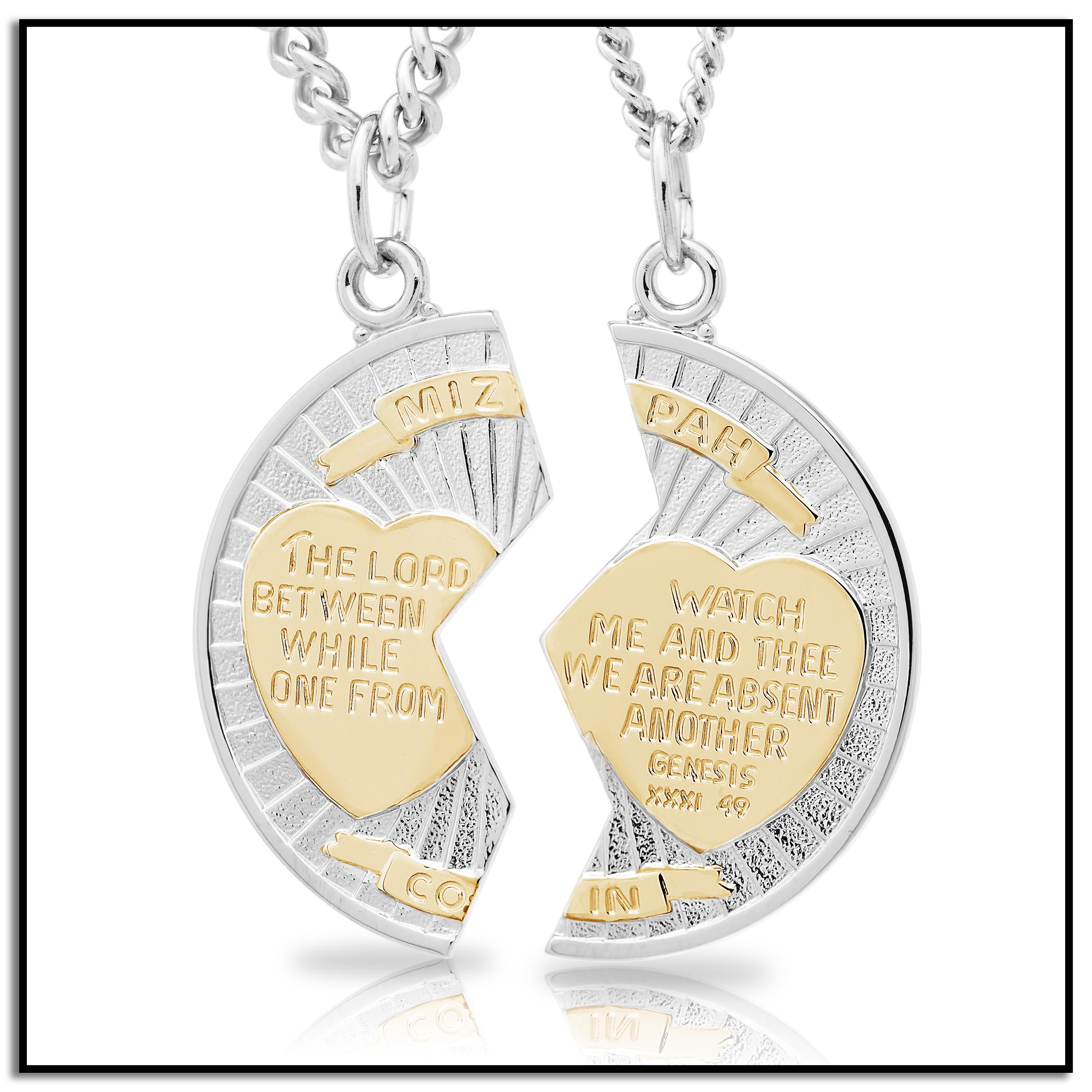 Amazon sterling silver mizpah medal necklace with stainless mizpah aloadofball Image collections