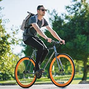 Amazon Com 6ku Fixed Gear Single Speed Urban Fixie Road Bike Sports Amp Outdoors
