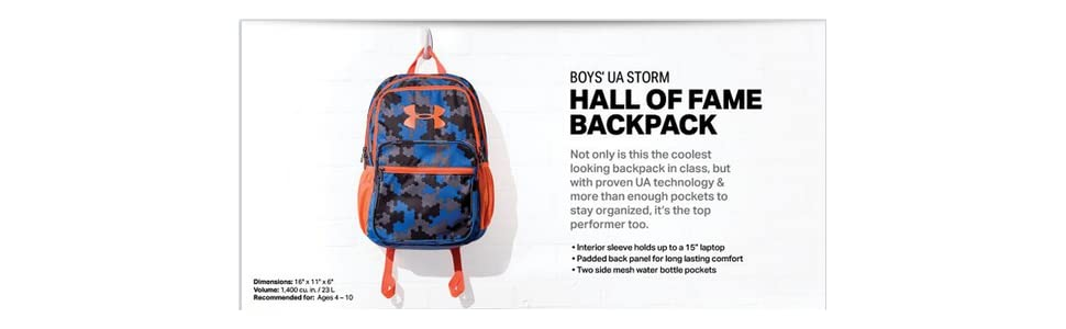 5e6ea2c77009 Amazon.com  Under Armour Boys  HOF Backpack