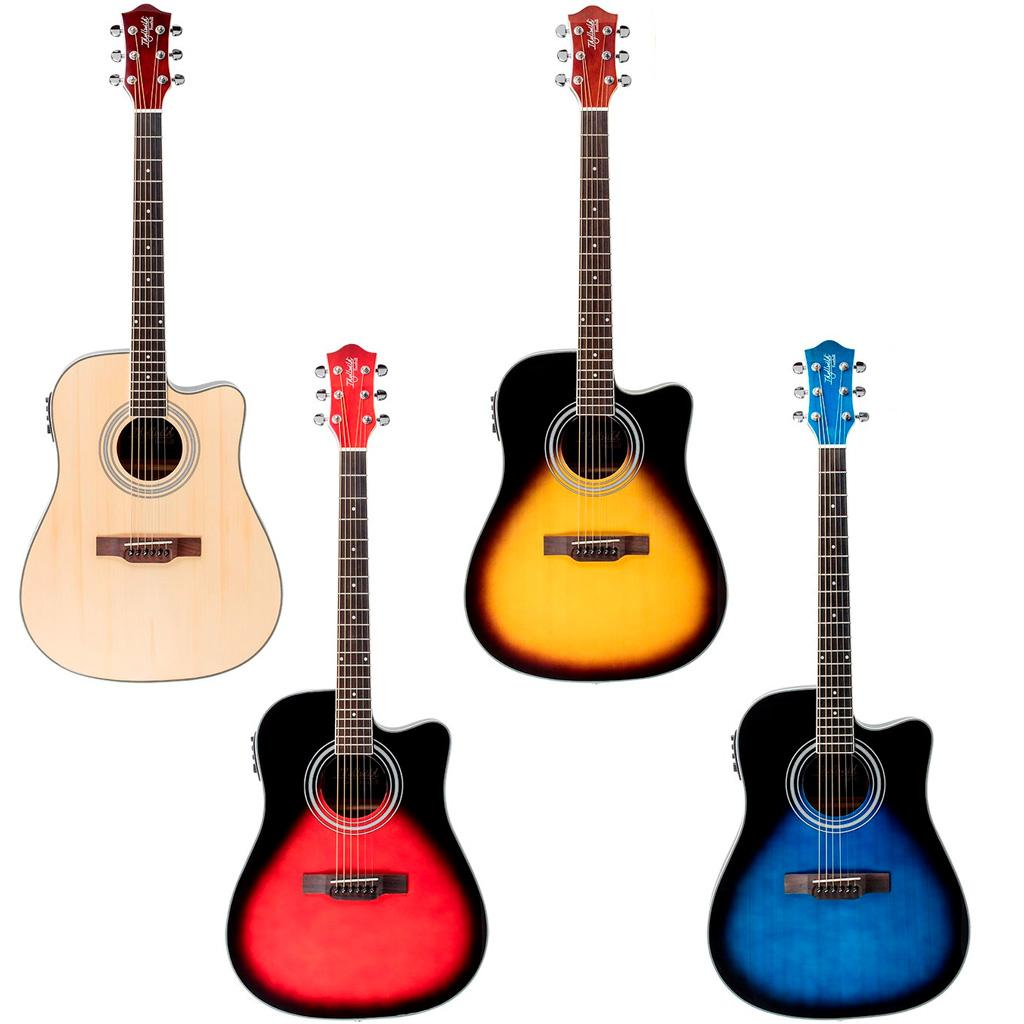 idyllwild foothill acoustic electric guitar with tuner pickup gig bag natural. Black Bedroom Furniture Sets. Home Design Ideas