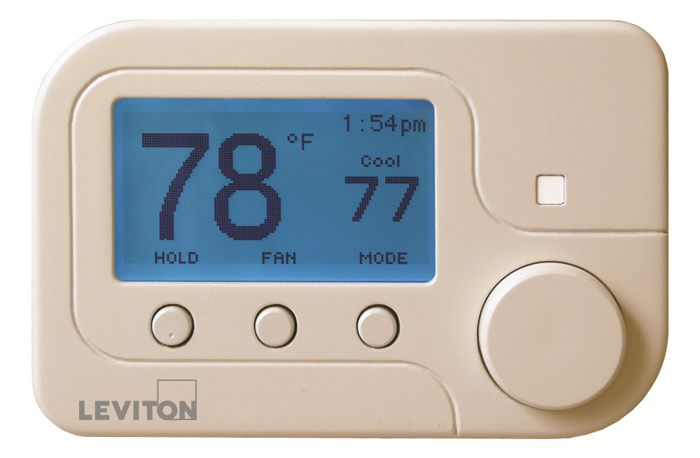 Leviton RC-1000WH Omnistat2 Conventional & Heat Pump Thermostat ...