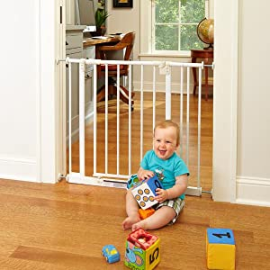 walk through baby gate, pressure mounted baby gate, best baby gate, walk thru baby gate, swing baby