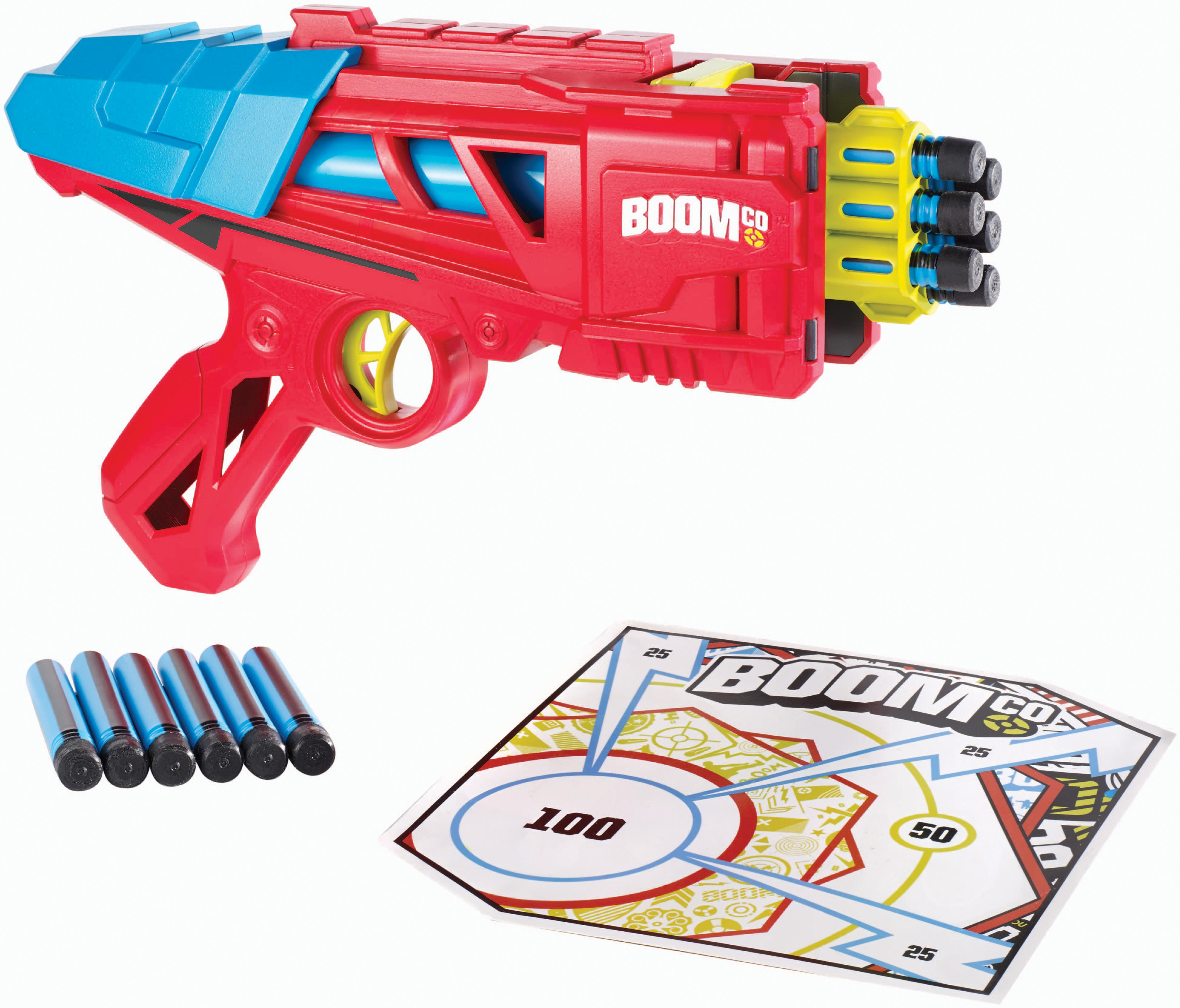 BOOMco. blasters look cool with sleek lines and bold angles, and offer
