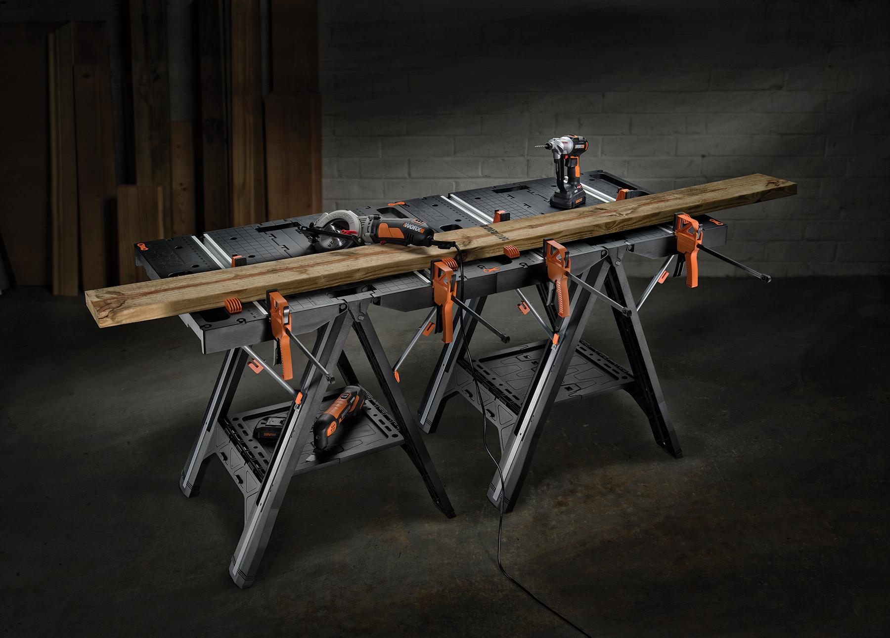 Worx Pegasus Multi Function Work Table And Sawhorse With