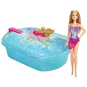 Amazon.com: Barbie Swimmin' Pup Pool Set: Toys & Games