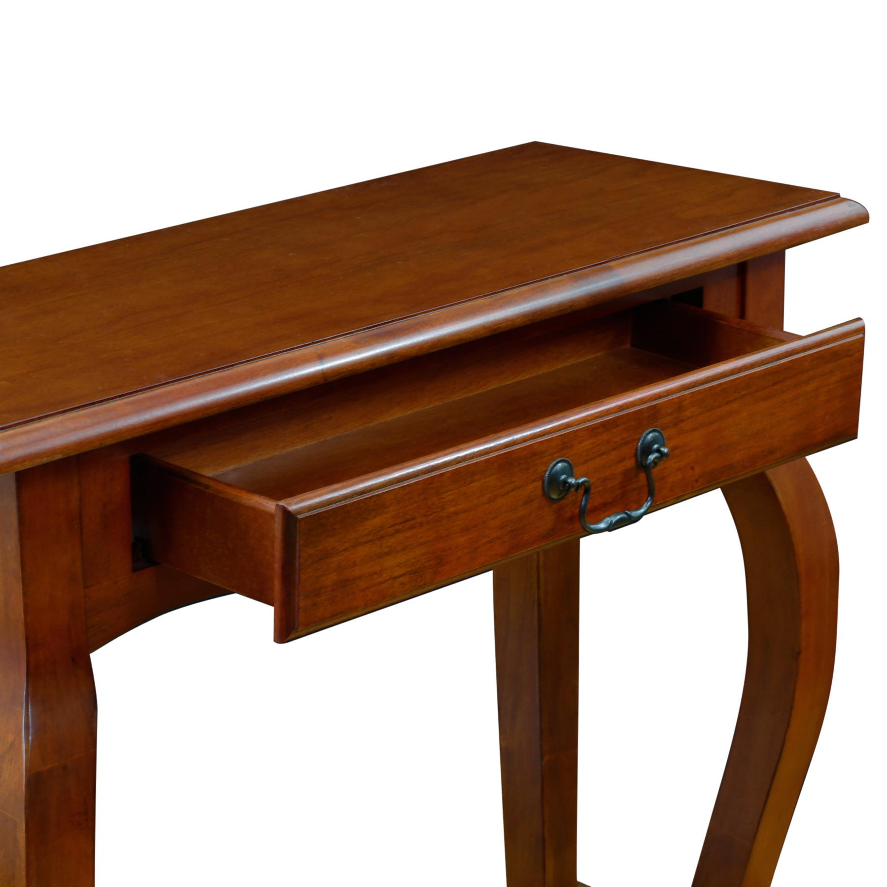 Amazon Com Leick French Hall Console Table Brown Cherry Kitchen Amp Dining