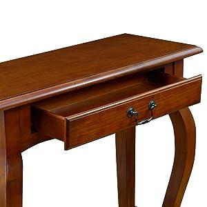 Amazon.com: Leick muebles mesa consola, Madera Noble, Marrón ...
