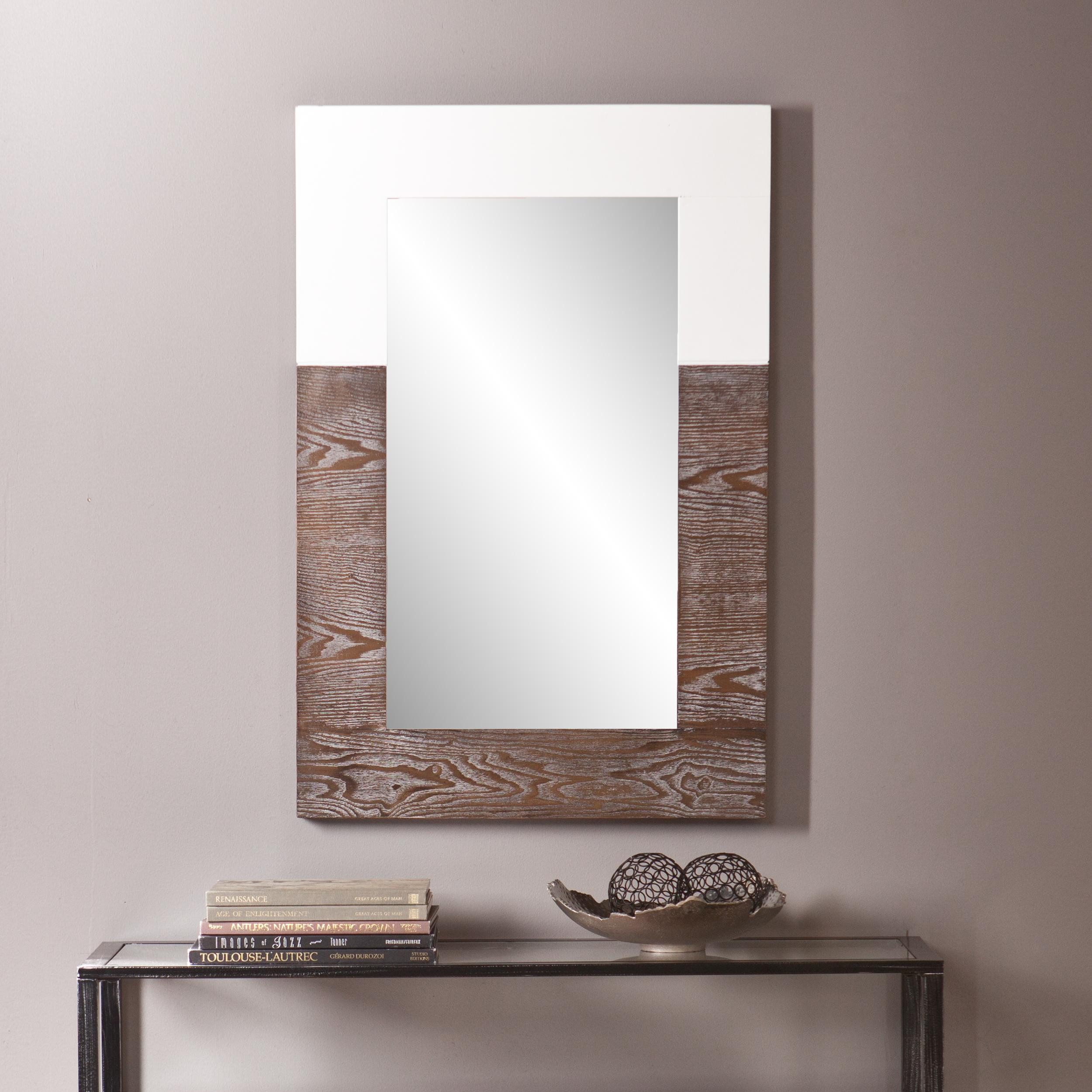 Amazon holly martin wagars mirror burnt oakwhite home view larger amipublicfo Images