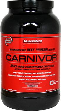 Amazon.com: MuscleMeds Carnivor Beef Protein Isolate Powder, Chocolate, 56 Servings: Health