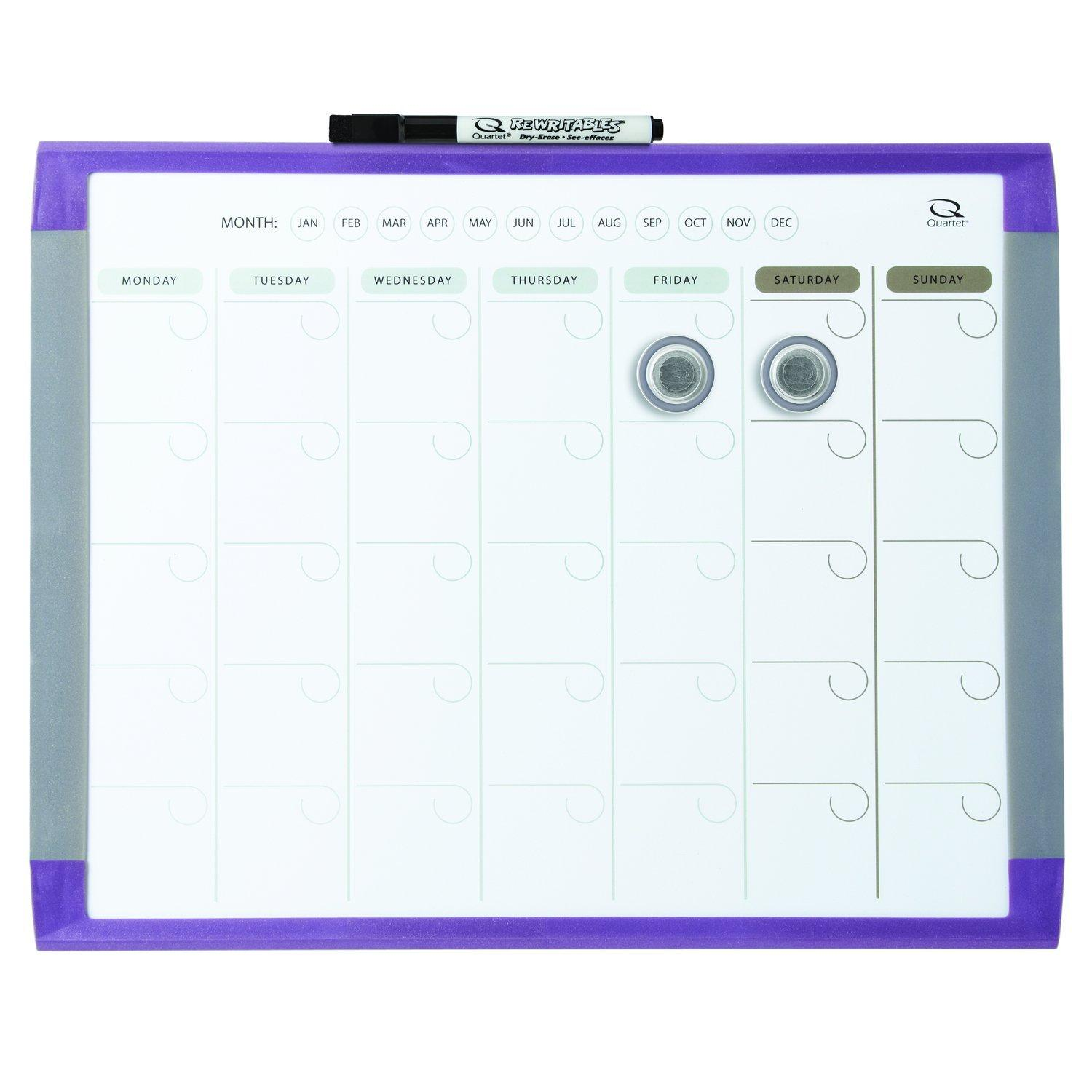 amazoncom  quartet  month calendar and magnetic dry erase  - from the manufacturer