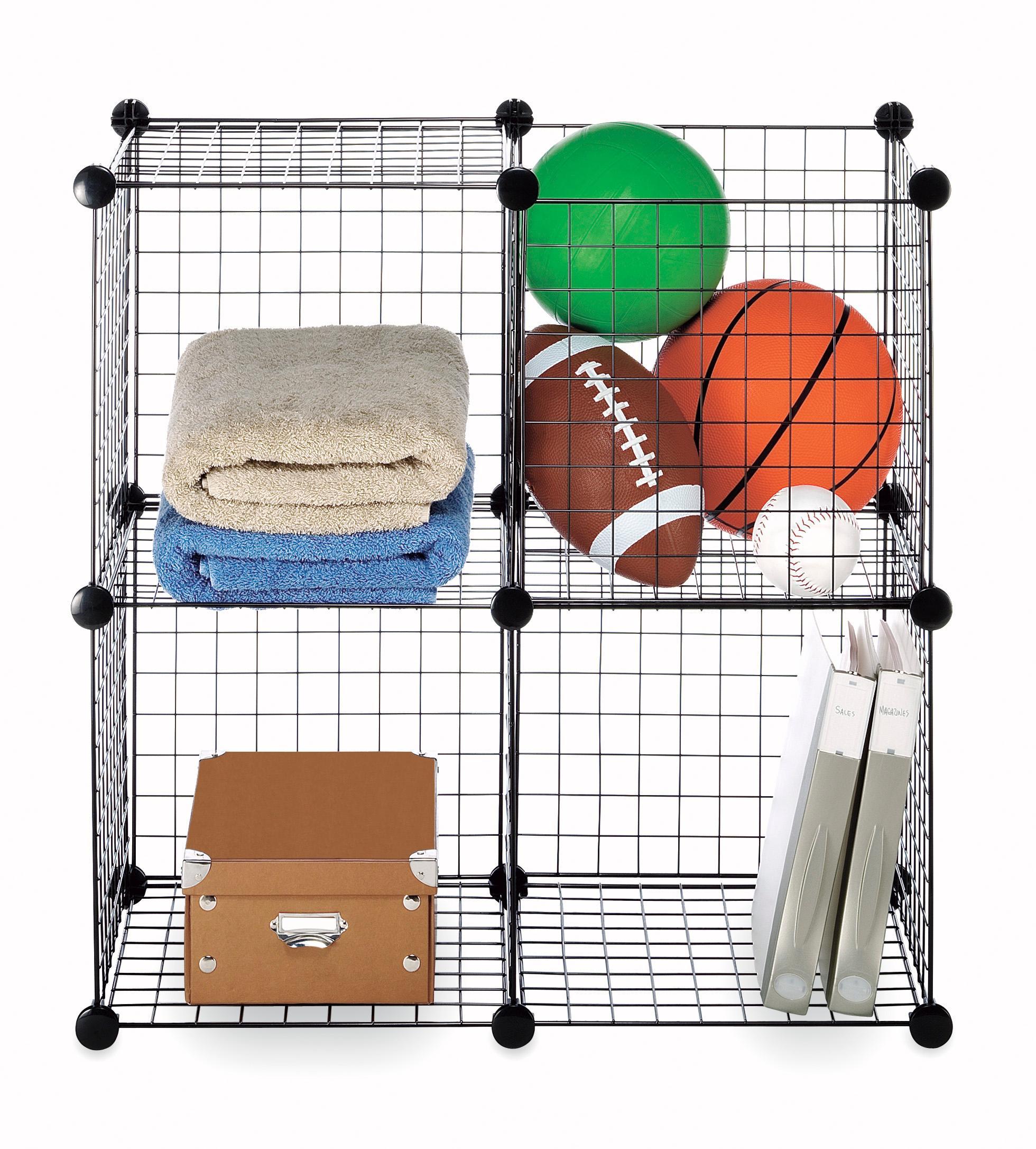 Amazon.com: Whitmor Storage Cubes Set of 4 Black Wire: Home & Kitchen