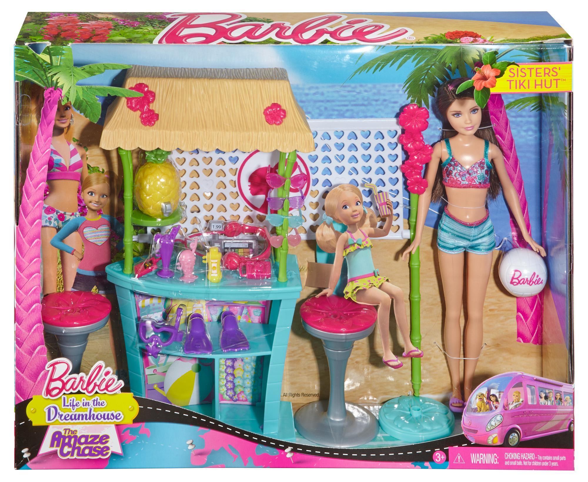 Amazon Com Barbie Sisters Skipper Doll And Tiki Hut