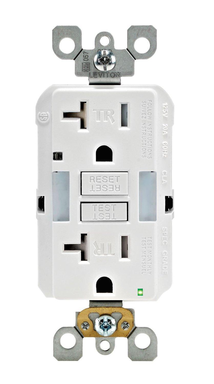 Leviton Gfnl2 W Self Test Smartlockpro Slim Gfci Tamper Resistant Wiring Outlet From The Manufacturer