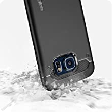 samsung;galaxy s6 case;protective;shockproof;absortion;absorbing;rubber;heavy;duty;carbon;fiber