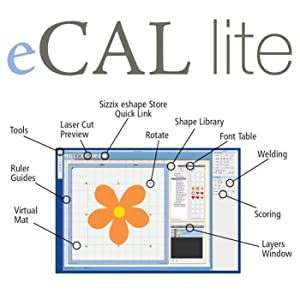 eCAL lite cutting software (included with the eclips2 Starter Kit) makes the design process easy
