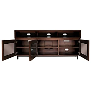 bell 39 o pr45 65 tv stand for tvs up to 70 cocoa kitchen dining. Black Bedroom Furniture Sets. Home Design Ideas