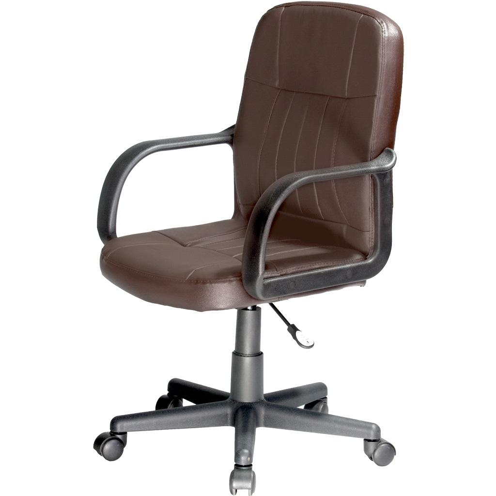 Tan leather office chair - View Larger