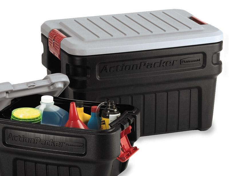 Amazoncom Rubbermaid ActionPacker Lockable Storage Box 48 Gallon