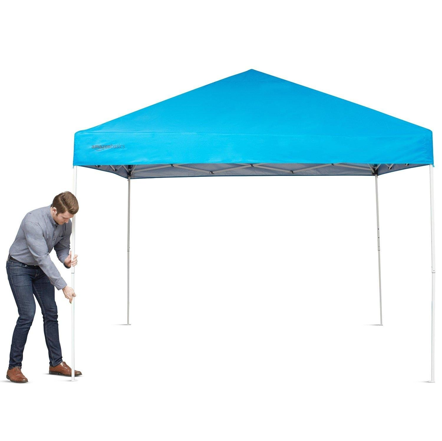 AmazonBasics Pop-Up Canopy Tent 10 x 10 ft  sc 1 st  Amazon.com & Amazon.com : AmazonBasics Pop-Up Canopy Tent - 10u0027 x 10u0027 Blue ...