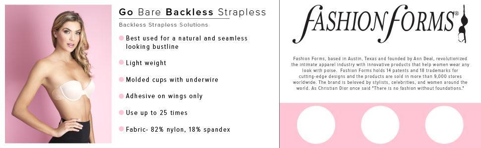 1abbf49885 Fashion Forms Go Bare Backless Strapless Bra