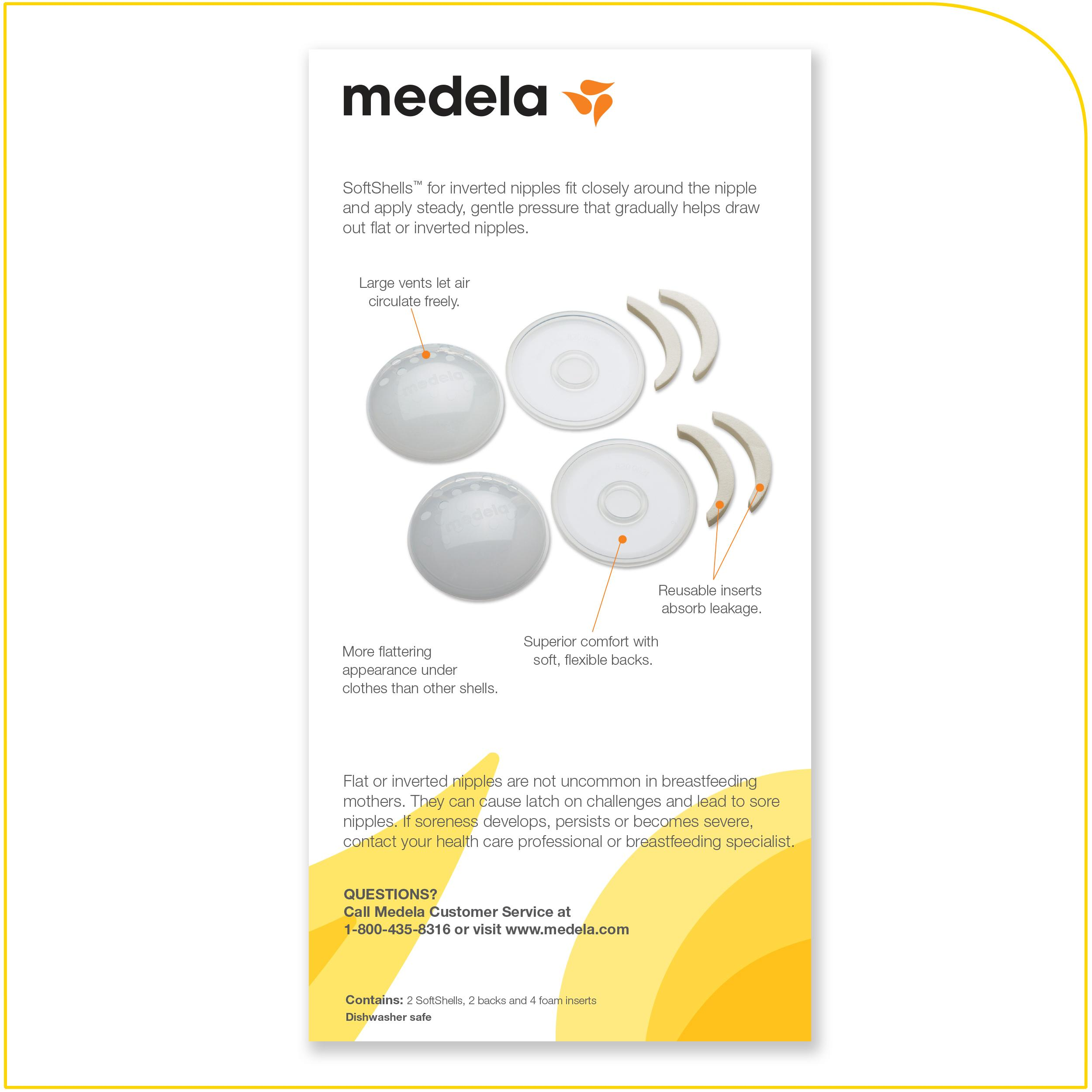 Amazoncom  Medela Softshells For Inverted Nipples -7893