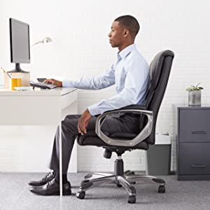 Amazoncom AmazonBasics High Back Executive Chair Black