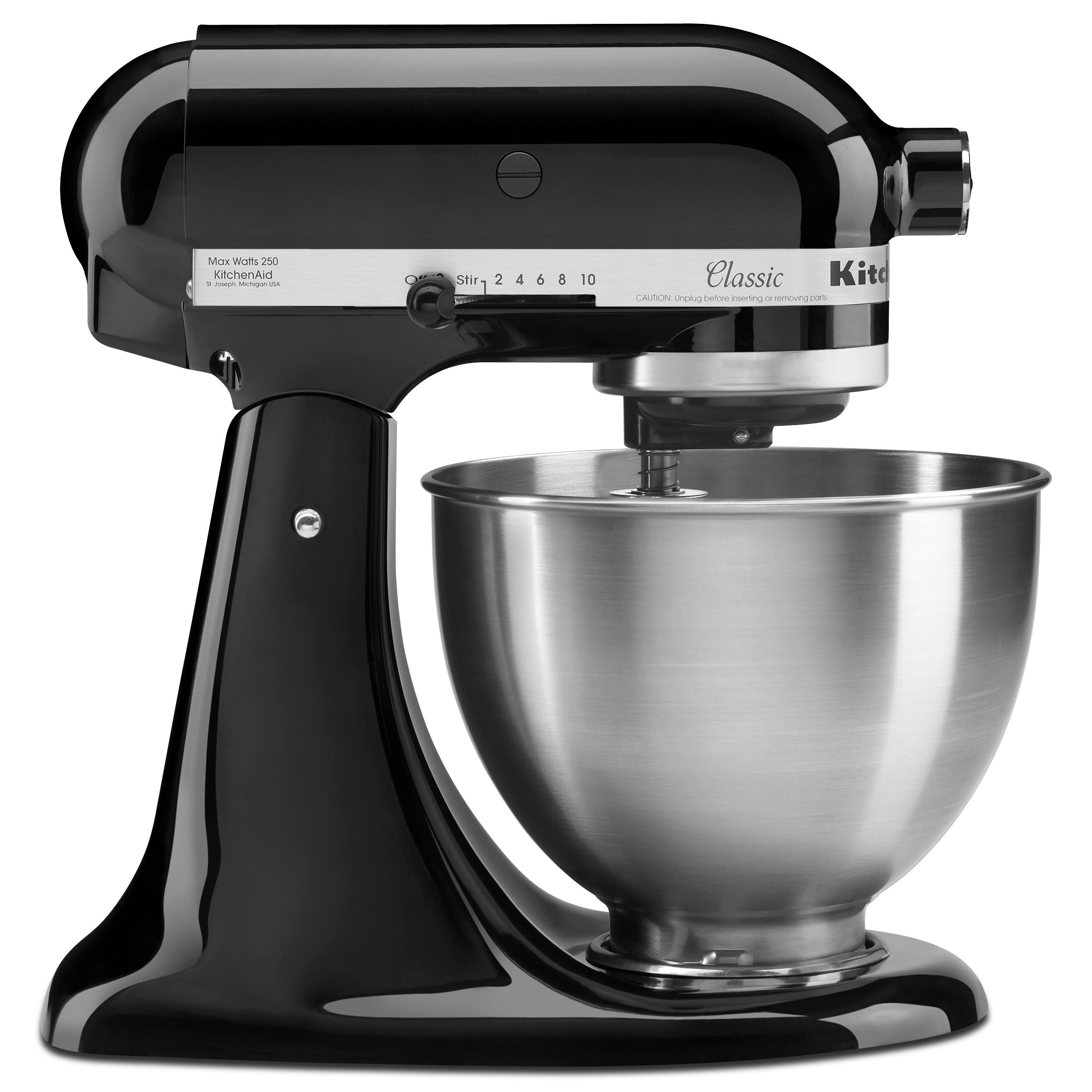 kitchenaid k45ssob 4 5 quart classic series stand mixer onyx black electric stand. Black Bedroom Furniture Sets. Home Design Ideas