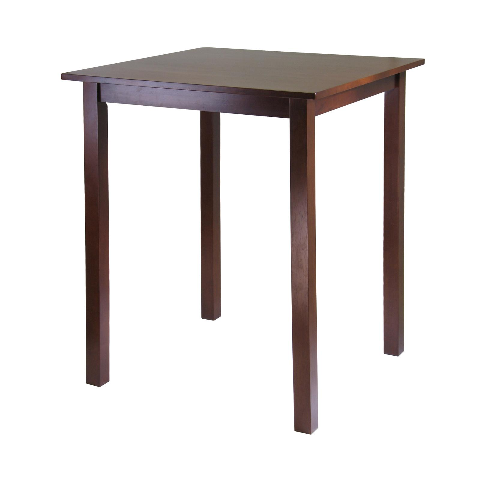 Amazon Com Winsome Solid Wood Parkland Pub Square Table