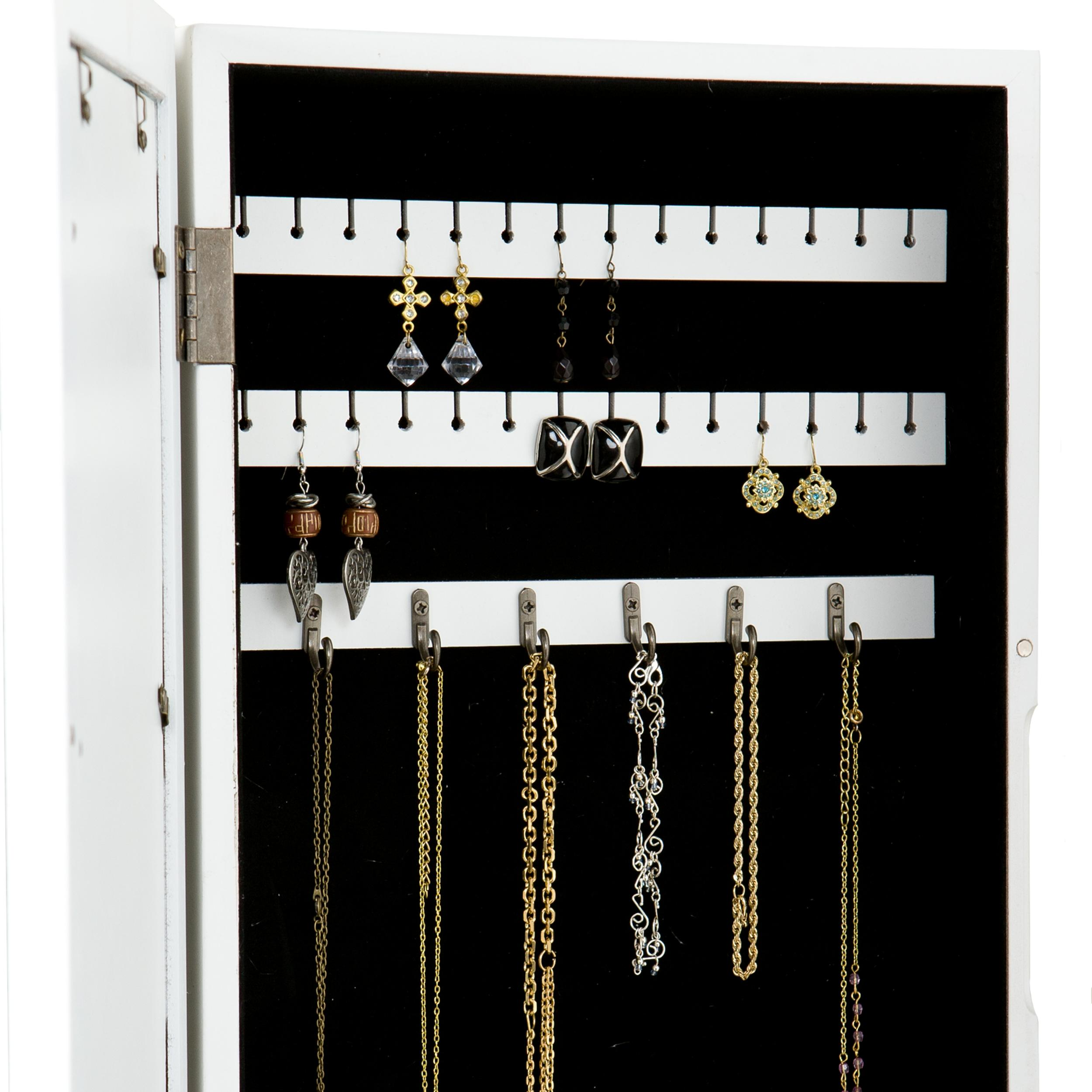 Mirrored Jewelry Cabinet Armoire Wall Mount Jewelry Cabinet White Roselawnlutheran