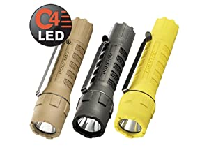 Streamlight PolyTac wiht Lithium Batteries, Coyote, Black, and Yellow