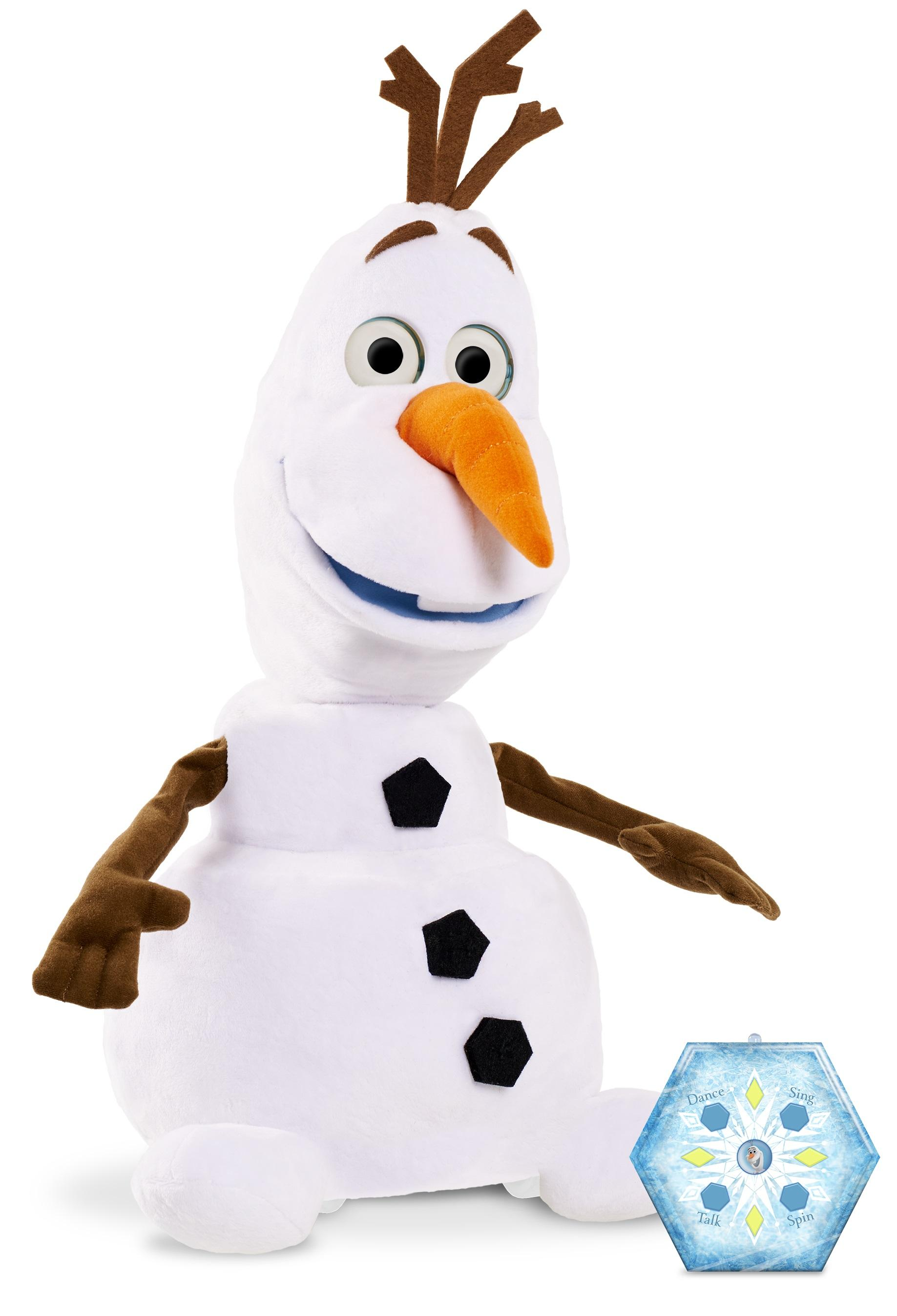 Amazon Com Disney Frozen Ultimate Walking Olaf Plush Toys Games