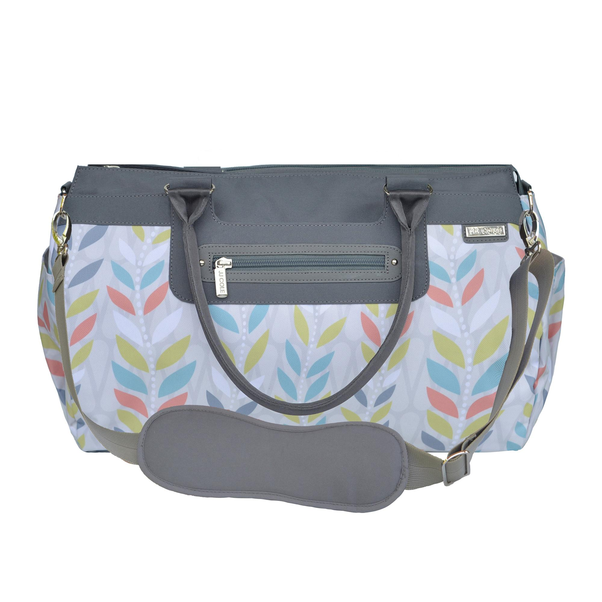 jj cole parker diaper bag gray floret baby. Black Bedroom Furniture Sets. Home Design Ideas