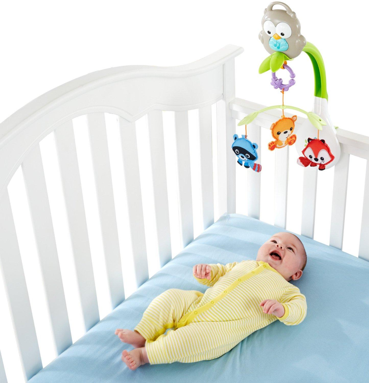 Amazon.com: Fisher-Price Woodland Friends 3-in-1 Musical Mobile: Baby