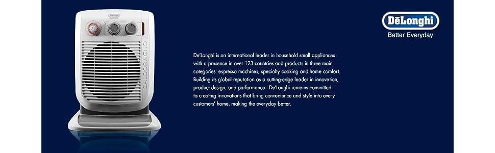 DeLonghi Caldobagno Bathroom Safe Portable Fan Space Heater Warm ...