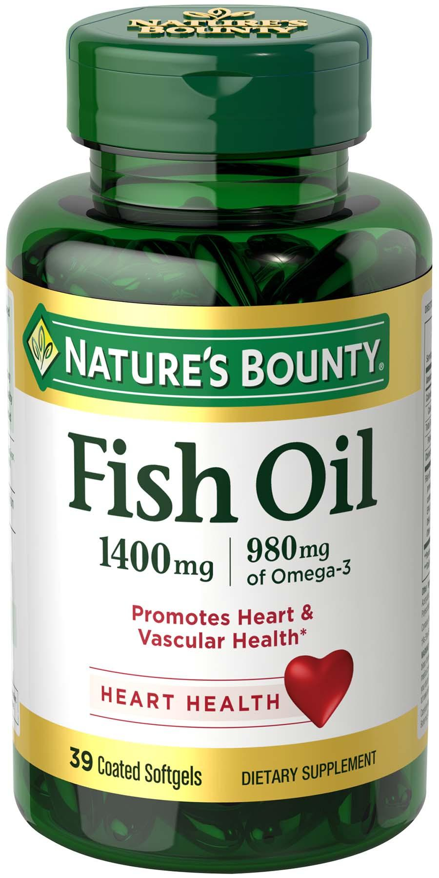 Nature Bounty Fish Oil  Mg  Softgels