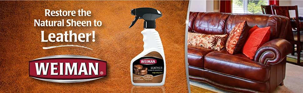 weiman leather cleaner pack of 6 automotive. Black Bedroom Furniture Sets. Home Design Ideas