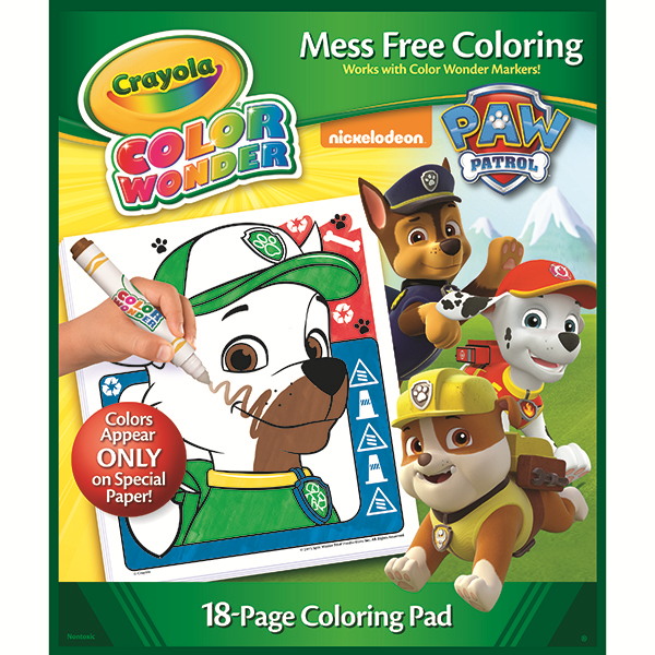 Amazon.com: Crayola Paw Patrol, Color Wonder Mess-Free Coloring Pad ...
