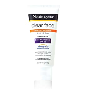 Neutrogena Clear Face Liquid Lotion Sunscreen SPF 55