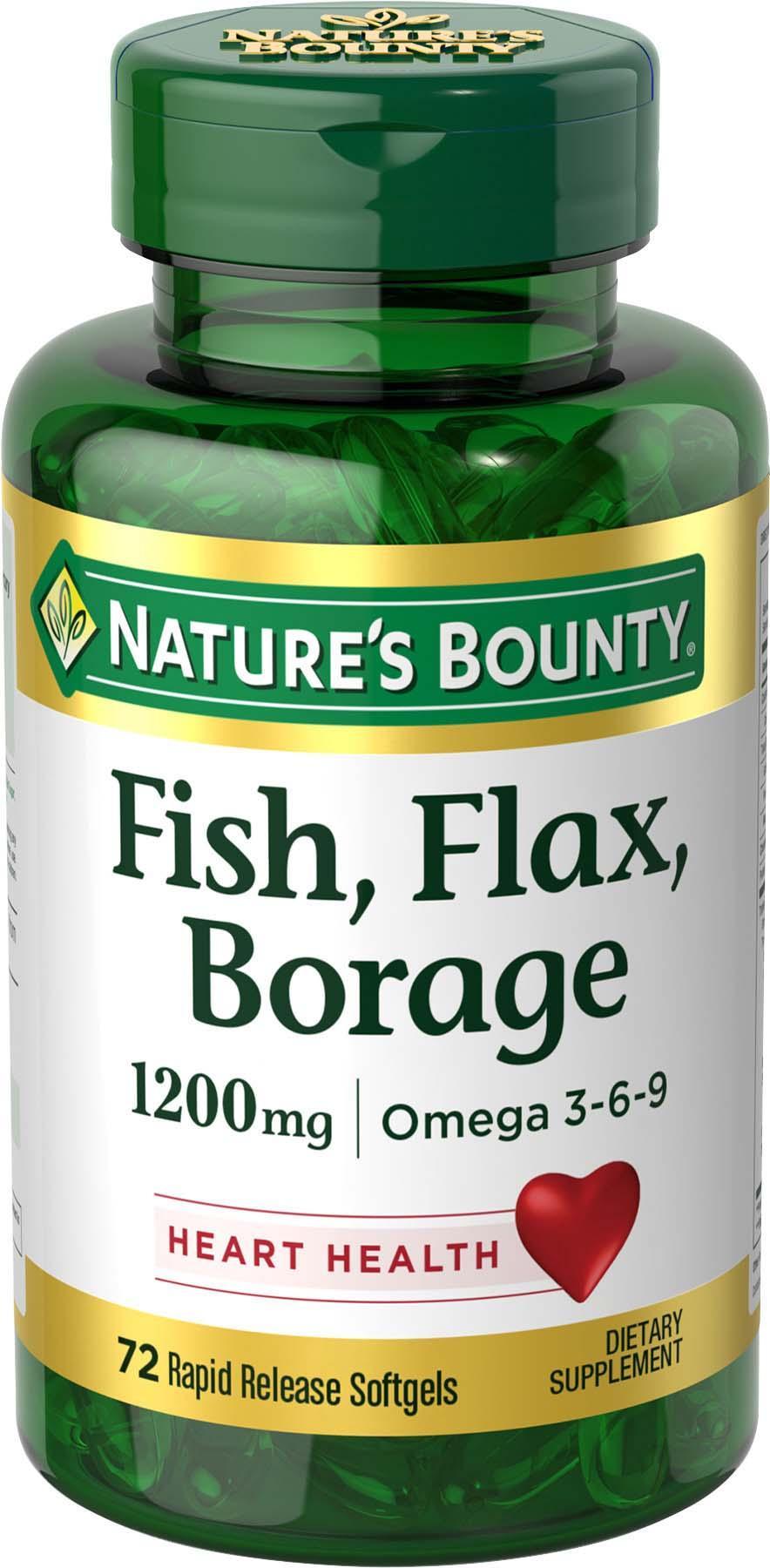 Nature 39 s bounty fish flax borage 1200 mg for Fish flax borage oil