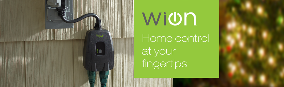 Wion 50049 Outdoor Wi Fi Wireless Plug In Switch 2