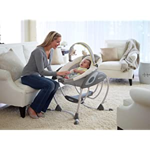 Your baby can now enjoy the gliding motion in a terrific gliding baby swing
